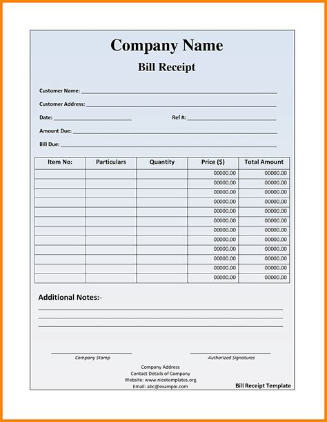 Templates For Bill O Sale Receipt by 6 Food Bill Receipt Formats Simple Bill