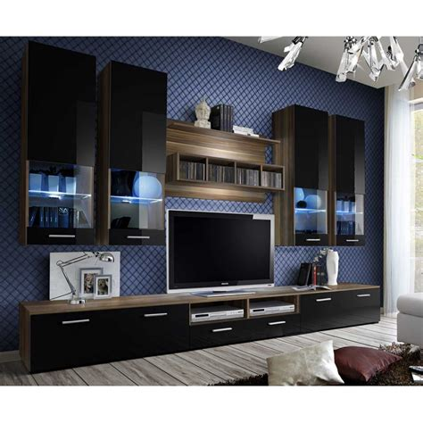 Meuble Tv Mural Noir by Meuble Tv Mural Design Quot Dorade Quot 300cm Noir Brun