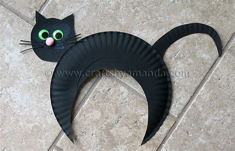 Black Cat Papercraft - paper plate black cat kid s craft