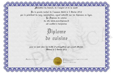 diplome cuisine diplome de cuisine