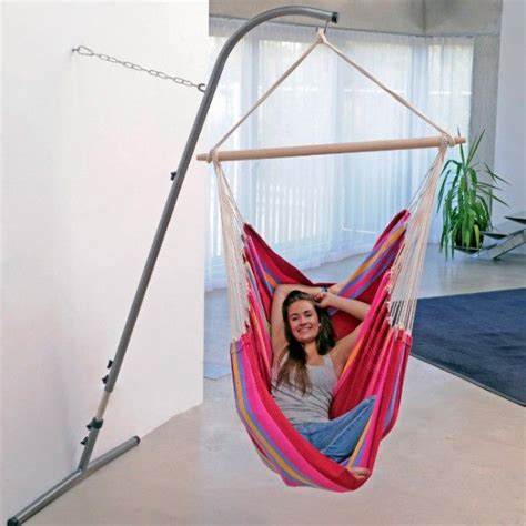 How To Hang A Hammock Chair Indoors by 17 Best Ideas About Hanging Chair Stand On