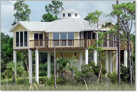 Lakefront House Plans by Piling Pier Stilt Houses Hurricane Amp Coastal Home Plans