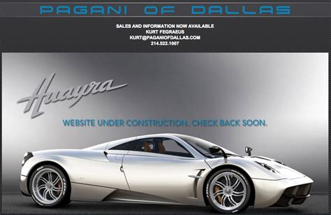 pagani dealership prototype 0 fifth us dealer appointed pagani of dallas