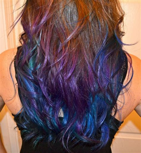 is the hairstyle where you only dye your bottom blond still really in style galaxy hair 15 fun ways to dye your hair for summer page