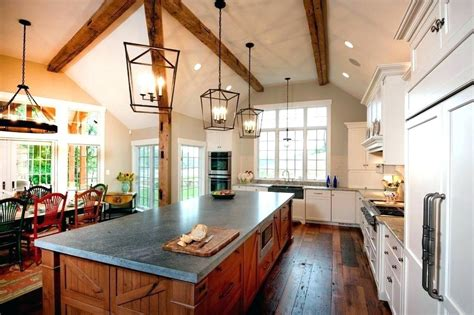 Chandelier For Cathedral Ceiling Kitchens With Cathedral Ceilings Pictures Kitchen With