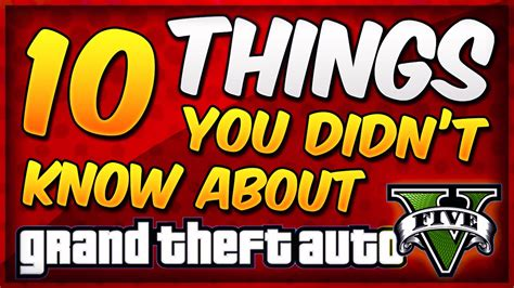 10 secret things you didn 10 things that you didn t know about gta 5 gta v facts