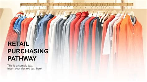 ppt templates for garments retail purchasing pathway powerpoint template