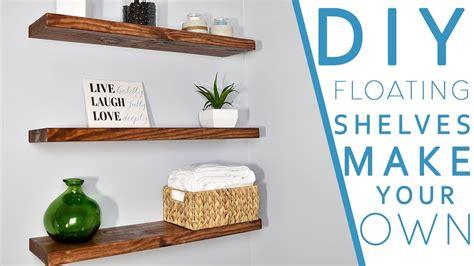 easy diy floating shelves  bracket diy creators youtube