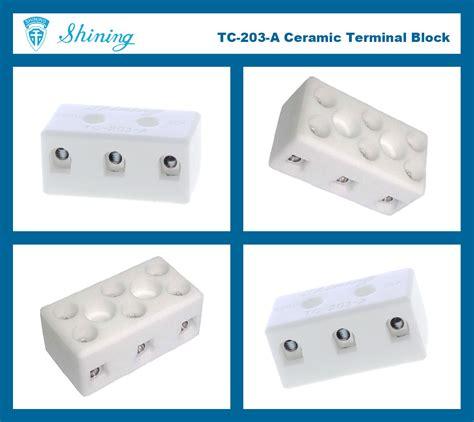 Terminal Keramik Blok 2 Pole 20a 1 Taiwan Blok Terminal Keramik 3 Kutub 600v 20a Porselen Tc
