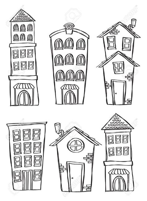 doodle how to make house buildings in doodle style colouring buildings
