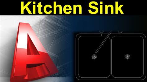 Autocad Tutorial Kitchen   autocad tutorial kitchen sink design with actual dimension