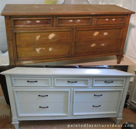 Refinished Dressers Before And After by 60 S Dresser Before And After Diy Refinished Furniture
