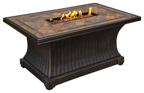 Agio Firepit Agio Agio Vienna 32 Quot X52 Quot Rectangular Slate Top Gas Pit Table View In Your Room Houzz