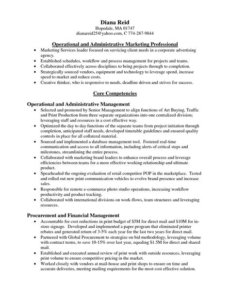 Agency Sales Manager Sle Resume by Sle Resume Agency Sales Manager Sle Resume Resume Daily