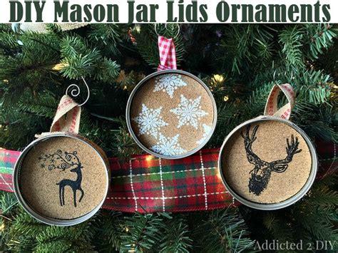 diy mason jar lids ornaments diy comfy home