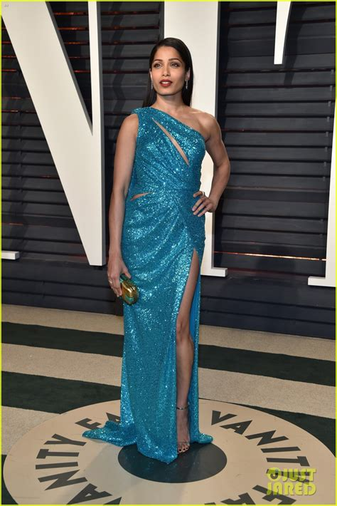 How The Get Glammed Up For Oscars by Munn Freida Pinto Glam Up For Vanity Fair S