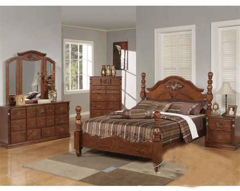 walnut bedroom set acme furniture bedroom set in walnut finish ac01720aset