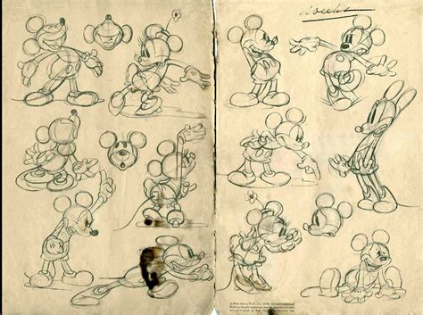 S Drawing Origin by Mickey Minnie Sketches Pinteres