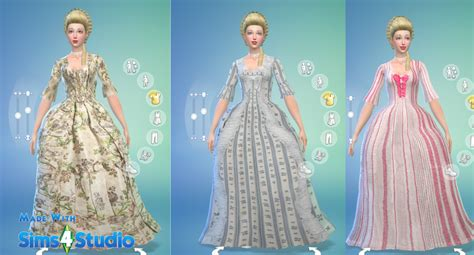 Dress Cc sims 4 cc s the best rococo dress by oh so rococo