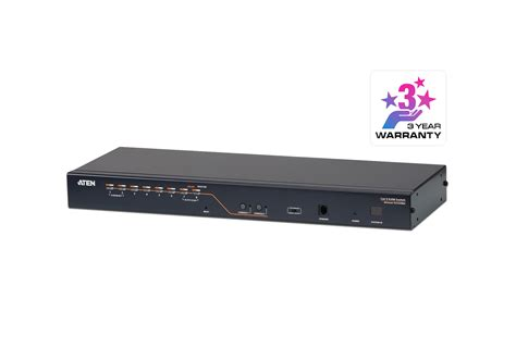 console kvm 2 console 8 port cat 5 kvm switch with chain port