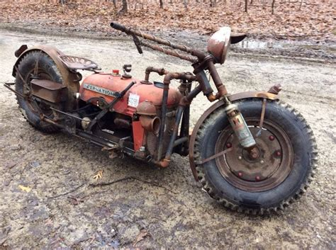 Motorrad Cing Equipment by Turns An Tractor Into A Cool Motorcycle That Mad