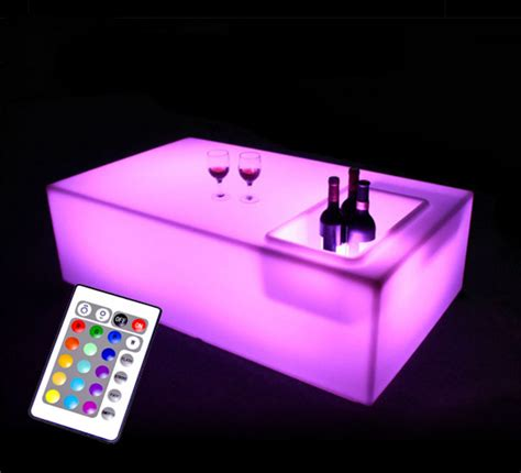 Lu Led Mobil Grand Max table basse lumineuse led l120 cm rectangulaire ext 233 rieure