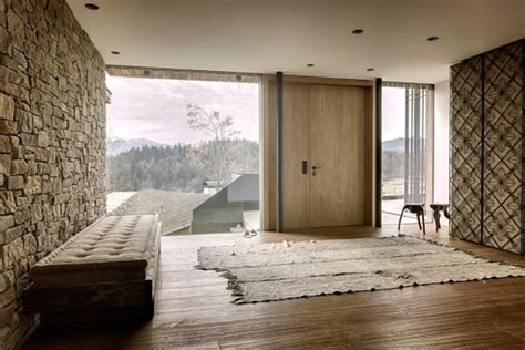 wood house with nature surrounding by gogl architekten wooden house interior in austrian alps