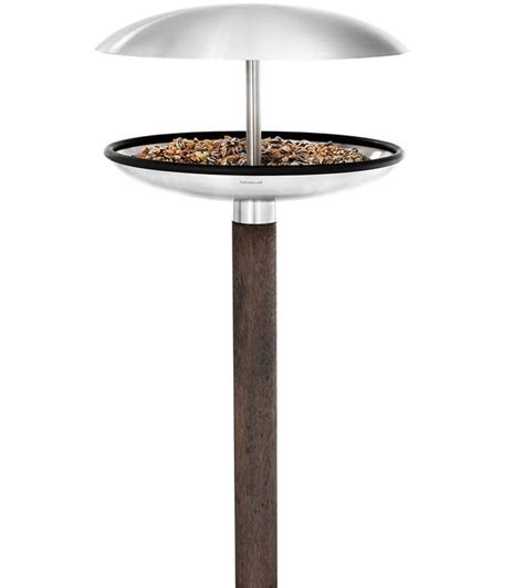 stainless steel bird feeder and bath in birdbaths
