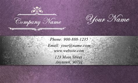 purple event planning business card design 2301201