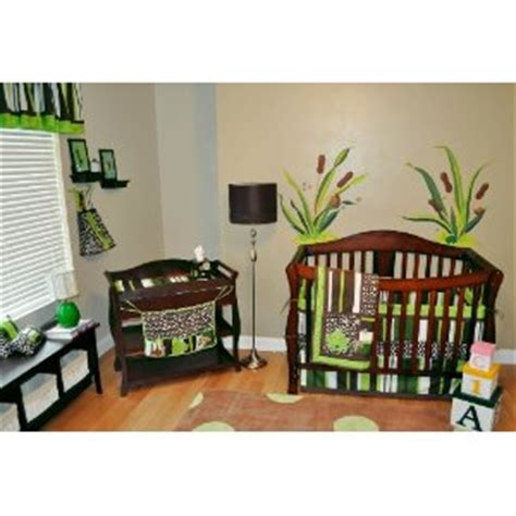 frog nursery crib bedding set brown green review cheap