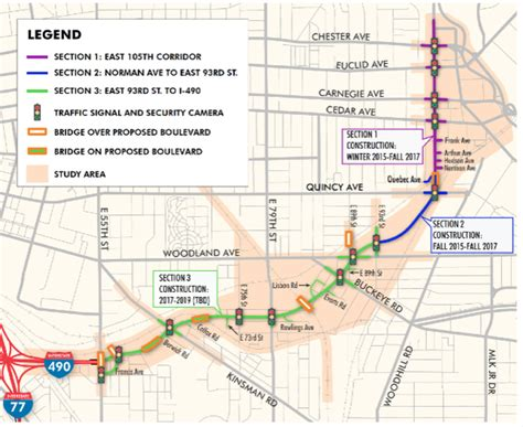 the plain dealer metro section opportunity corridor crews begin work on monday along a