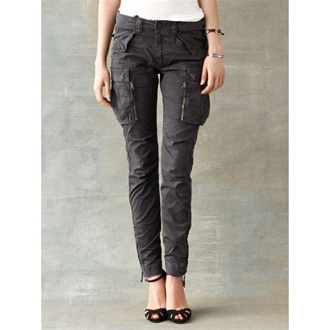 Cargo Pant Black 1 lyst rrl cargo pant in black for