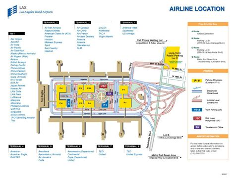 los angeles airport lax terminal maps map of all terminals