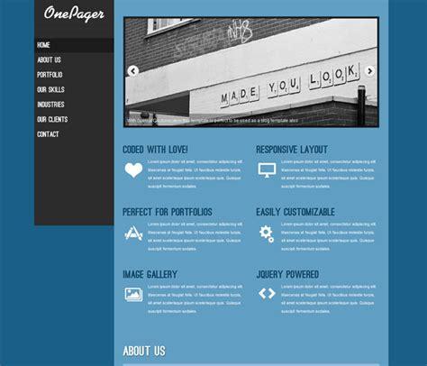 free responsive portfolio templates free one pager responsive portfolio template templates