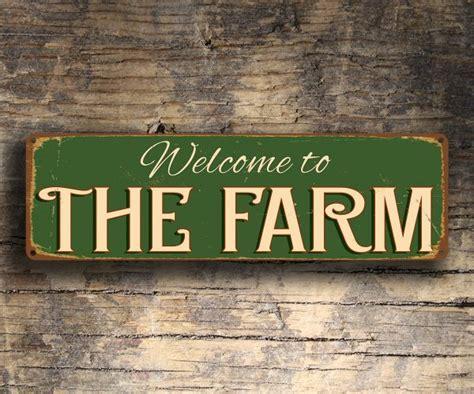 farm sign farm decor classic metal signs