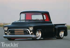 1957 chevy stepside air bag suspension truckin