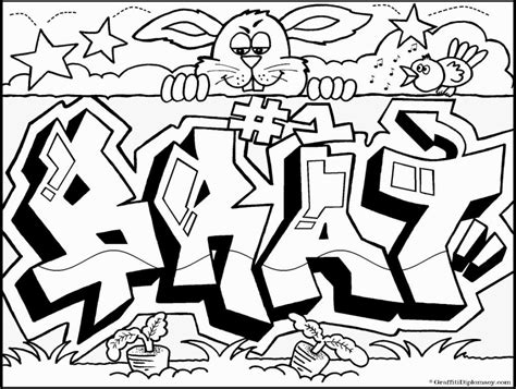 graffiti wall graffiti words coloring pages
