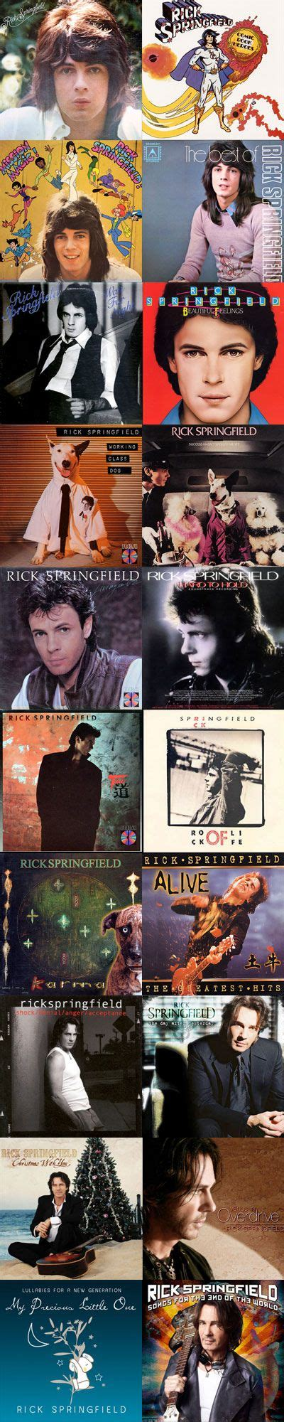 Rick Springfield The Encore Collection Cd rick springfield album covers images