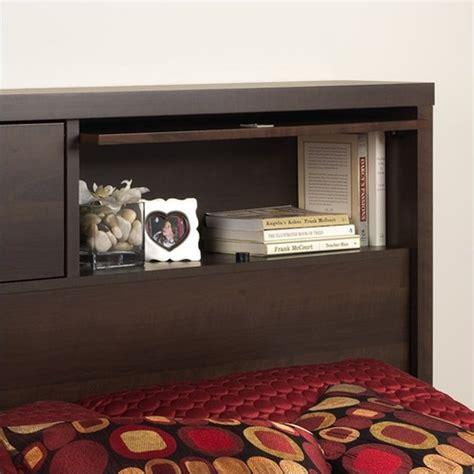 espresso headboard full 2 door full queen bookcase headboard in espresso ehfx