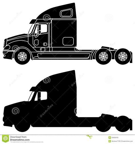 semi truck clip semi truck silhouette clip silhouette truck