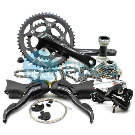 New Shifter Shimano Sora 3400 2x9 Speed new shimano sora road 3500 3550 9 speed road bike groupset set black ebay
