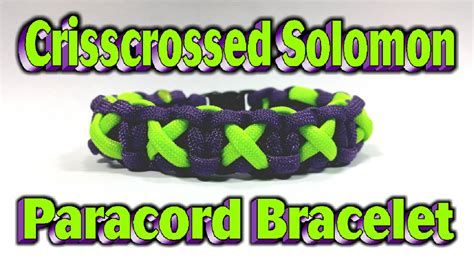 Paracord How To Make A Modified Crisscrossed Solomon Bar With Buckles   YouTube