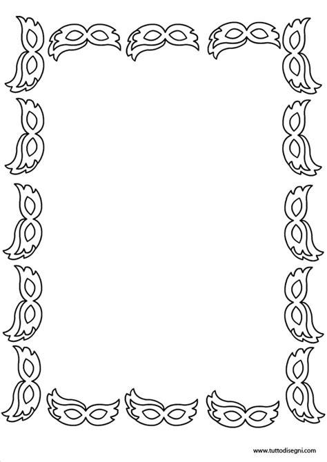 cornici carnevale cornicetta di carnevale in bianco e nero tuttodisegni