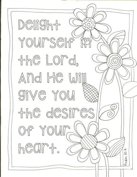coloring book yourself delight yourself in the lord coloring pages