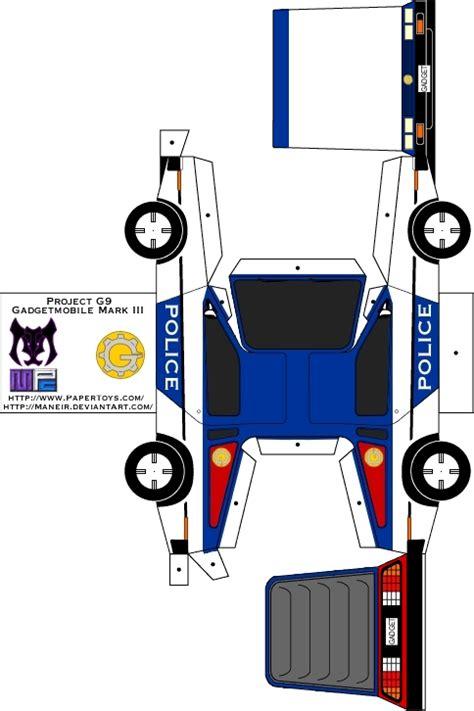 Papercraft Mobil - dmc 12 gadgetmobile papercraft by maneir on deviantart