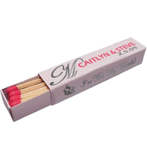 Wedding Box Matches by Wedding Matchboxes Lipstick Box 18 Matches