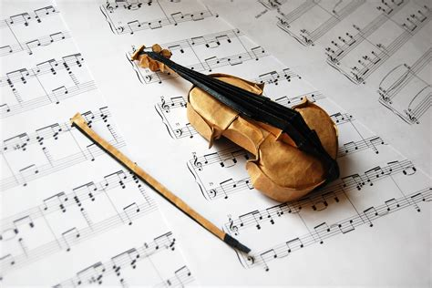 origami musical instruments take a minuet to look at this amazing music themed origami