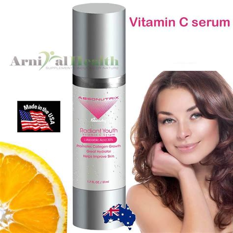 Serum Vitamin C Collagen 30 Leona Skincare vitamin c serum l ascorbic acid hyaluronic acid anti aging skin care 51ml ebay