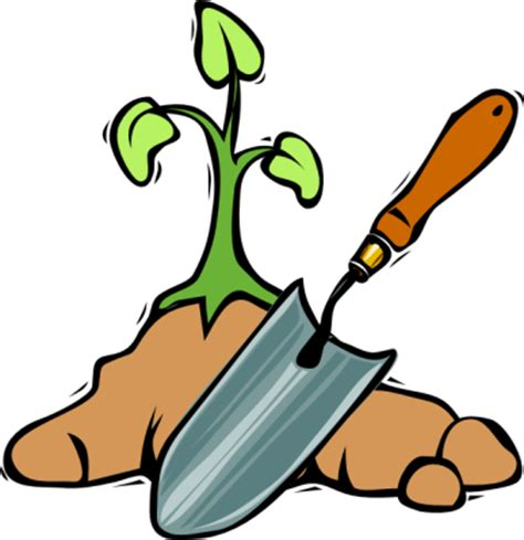clip gardener garden tools clipart