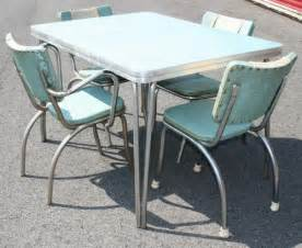 50s Dining Table And Chairs Vtg 50s Formica Table 4 Chairs Mid Century Atomic Retro Dinette Dining Chrome Crafts Chairs